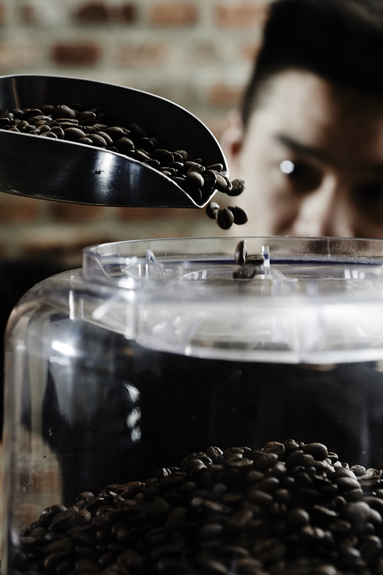 moody coffee being poured