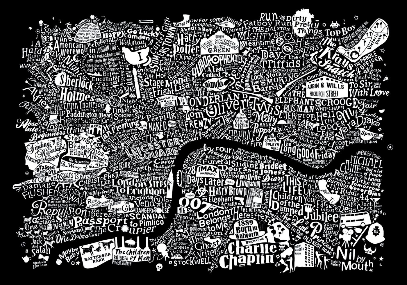 Map Of Central London To Print.Central London Film Map Run For The Hills