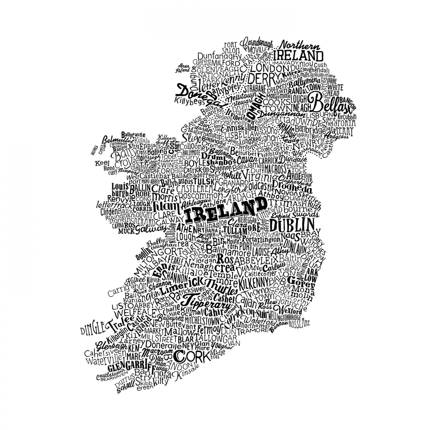 Small Map Of Ireland.Ireland Map White Small Run For The Hills