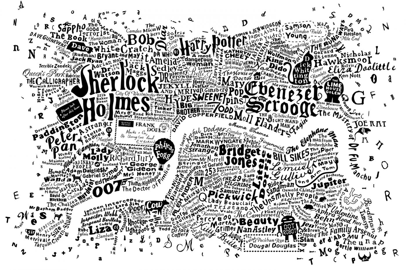Map Of Central London To Print.Literary Central London Map Run For The Hills