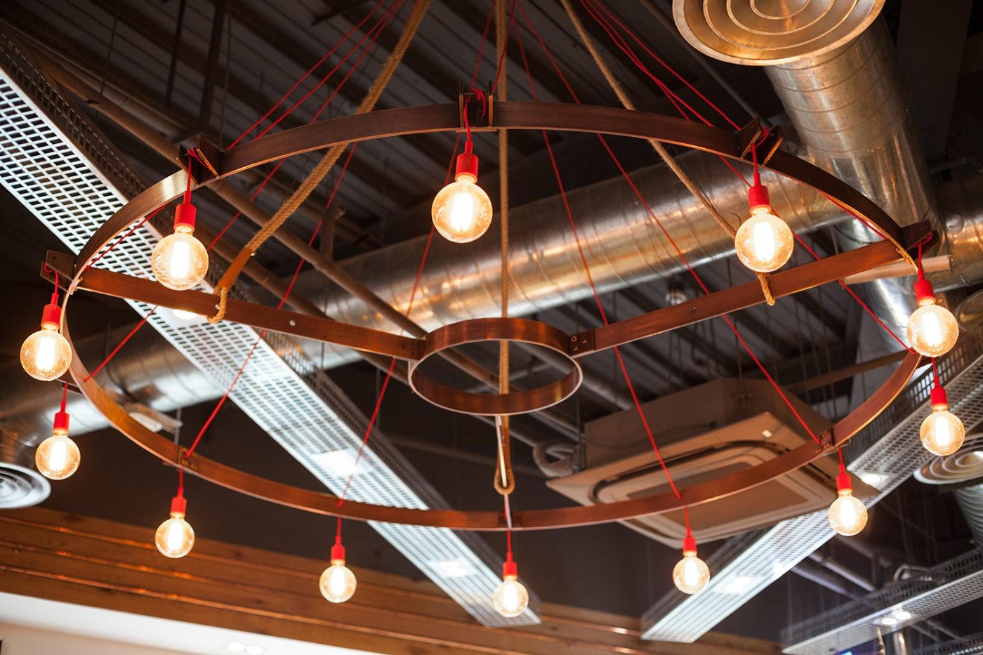 industrial lighting artisan coffee