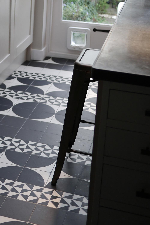 Artisan Workers Cottage Residential Interior Design West London Kitchen  Diner Patchwork Floor