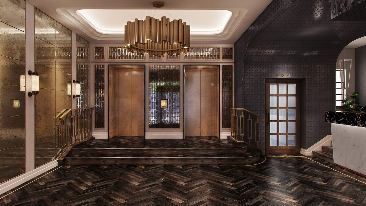 glamorous lobby hotel design