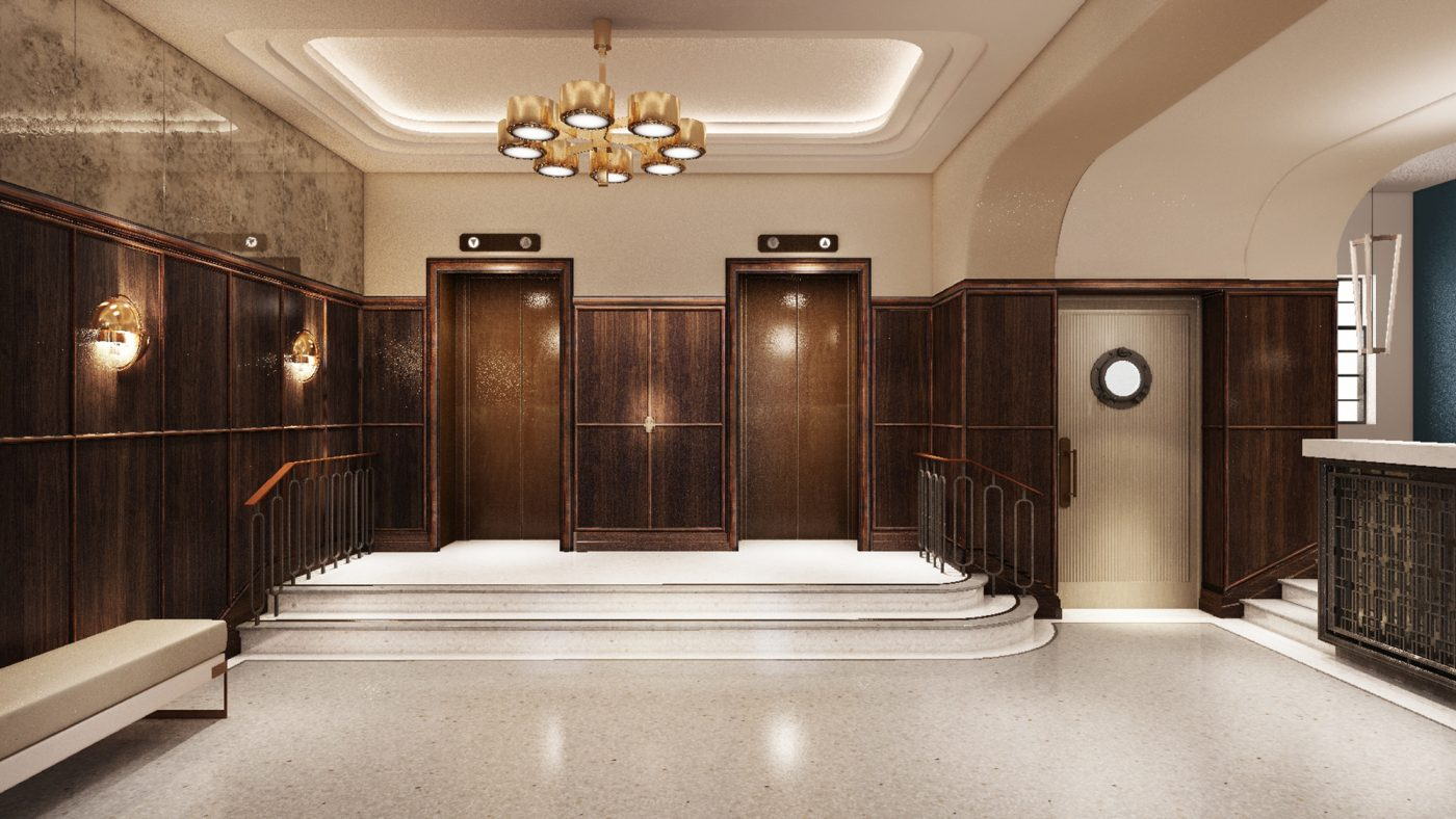 stylish lobby entrance hotel design