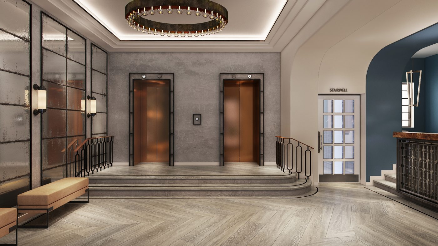 Paramount court lobby run for the hills for Hotel design 06