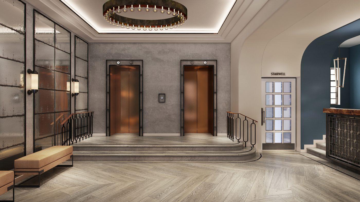urban modern hotel lobby design
