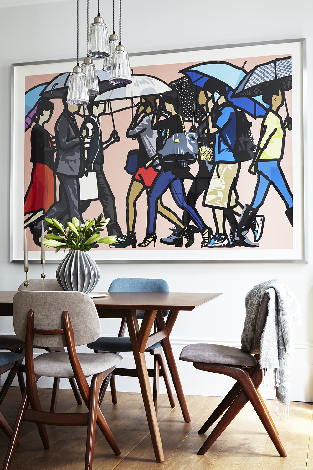 Interior Design Styling Residential Wallart Dining Table Chairs Vintage