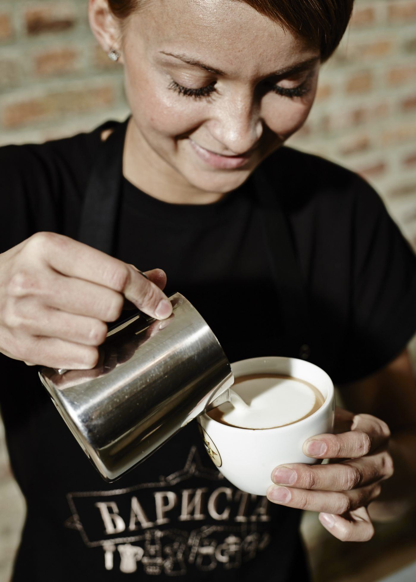 artisan coffee design pouring