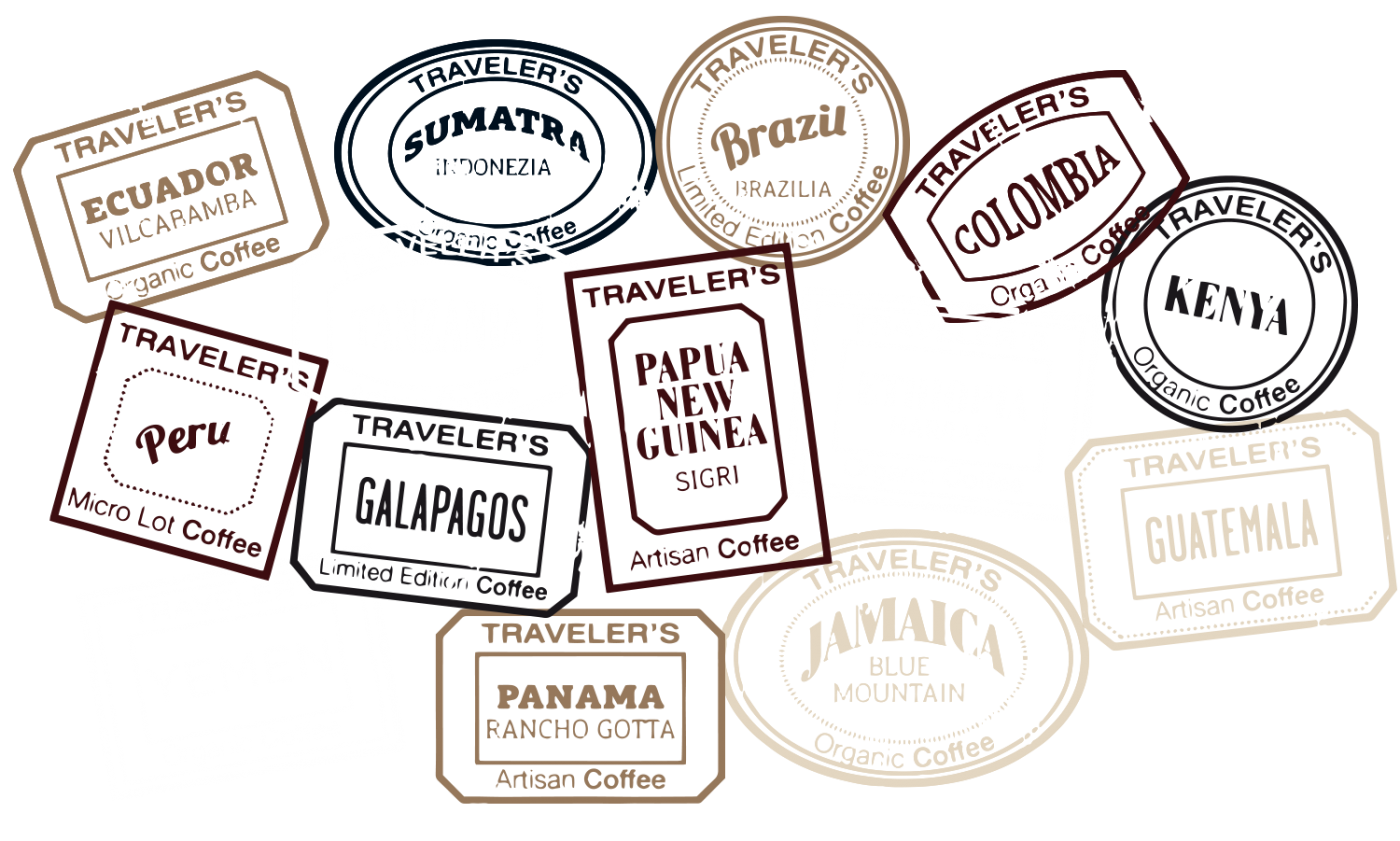stamps artisan coffee deisgn branding stickers