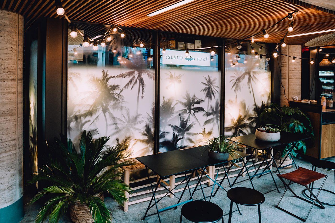 Island Poke Hawaii Interior Design Graphic London