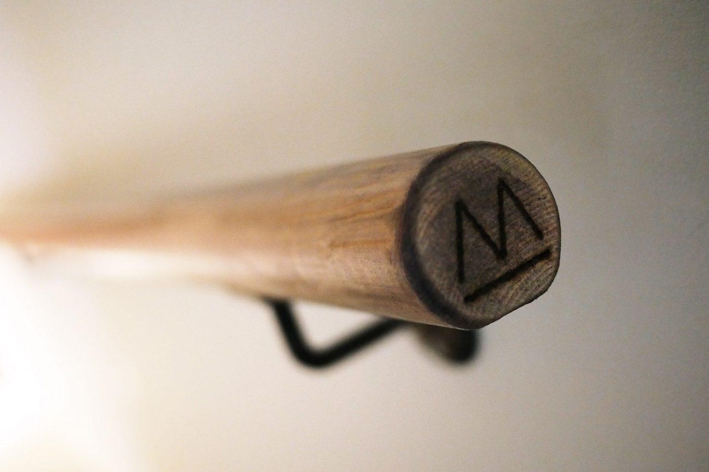 Mam_Restaurant_bar_Design_details_interior_hand_rail_logo_engraved_custom_bespoke