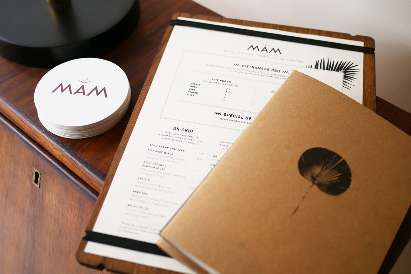Mam_restaurant_bar_host_station_menu_coaster_graphic_design