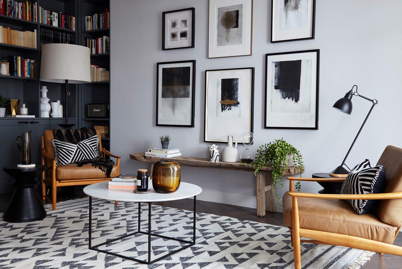 Regentsparklondonapartmentinteriorsdesignannaburlesfresh - Geometric marble coffee table