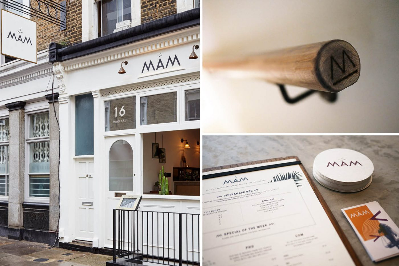 Mam Vietnamese Restaurant London Nottinghill Design Graphics Interior Cool Branding Run For The Hills